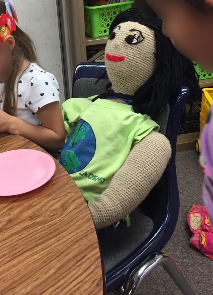 life size crochet doll
