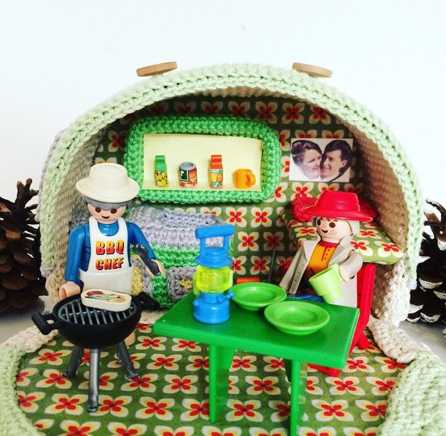 gehaakte caravan/crochet caravan